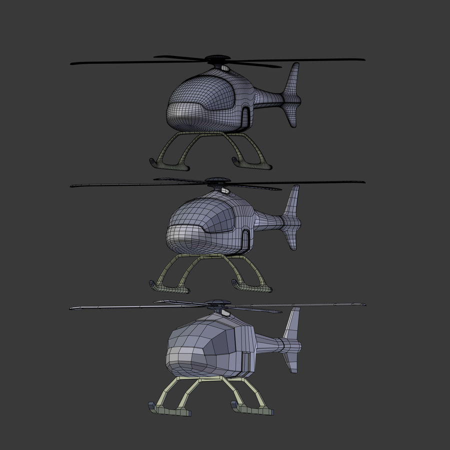 Aircraft_Fantasy_Helicopter royalty-free 3d model - Preview no. 21