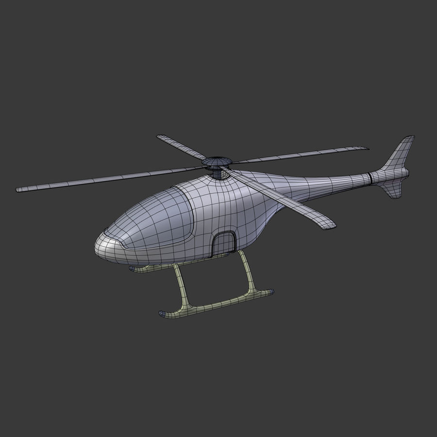Aircraft_Fantasy_Helicopter royalty-free 3d model - Preview no. 4
