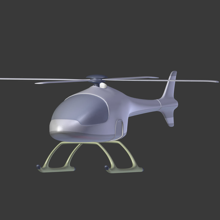 Aircraft_Fantasy_Helicopter royalty-free 3d model - Preview no. 6