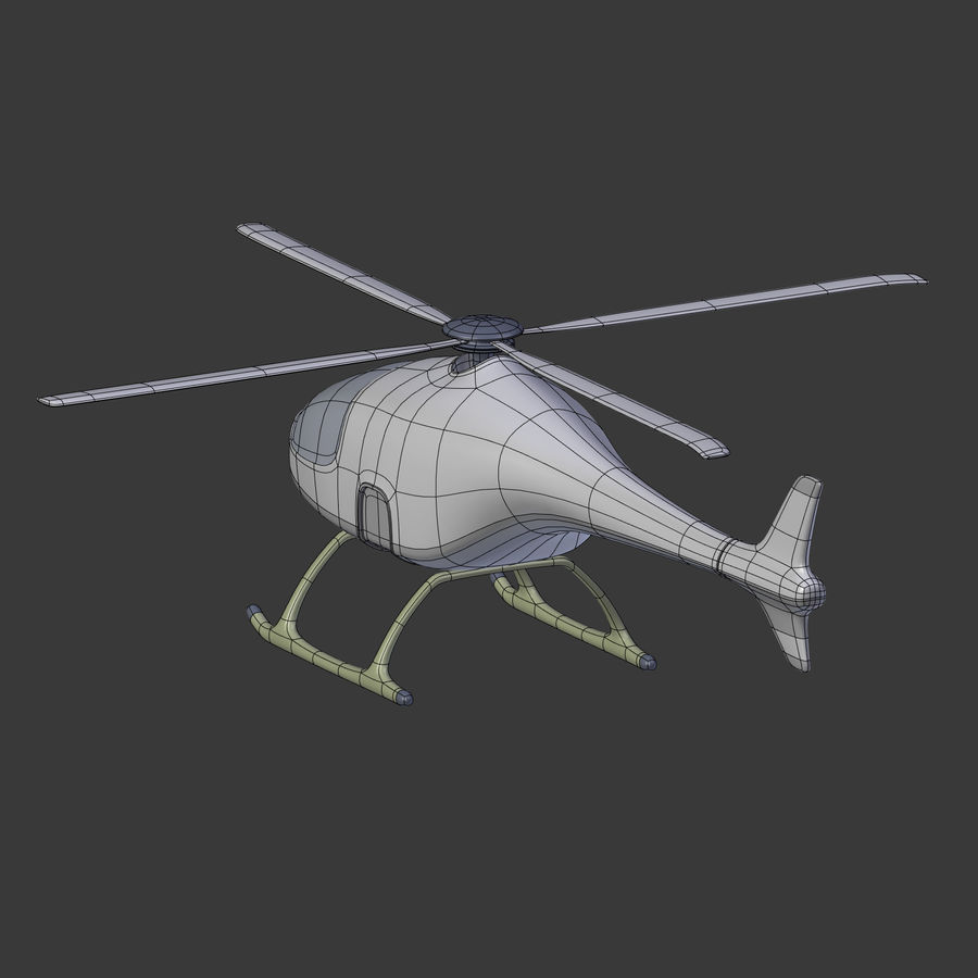 Aircraft_Fantasy_Helicopter royalty-free 3d model - Preview no. 11
