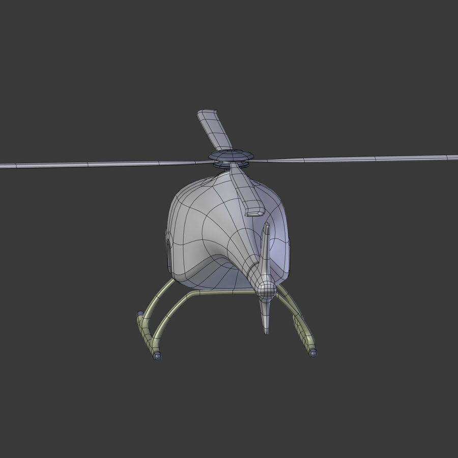 Aircraft_Fantasy_Helicopter royalty-free 3d model - Preview no. 19