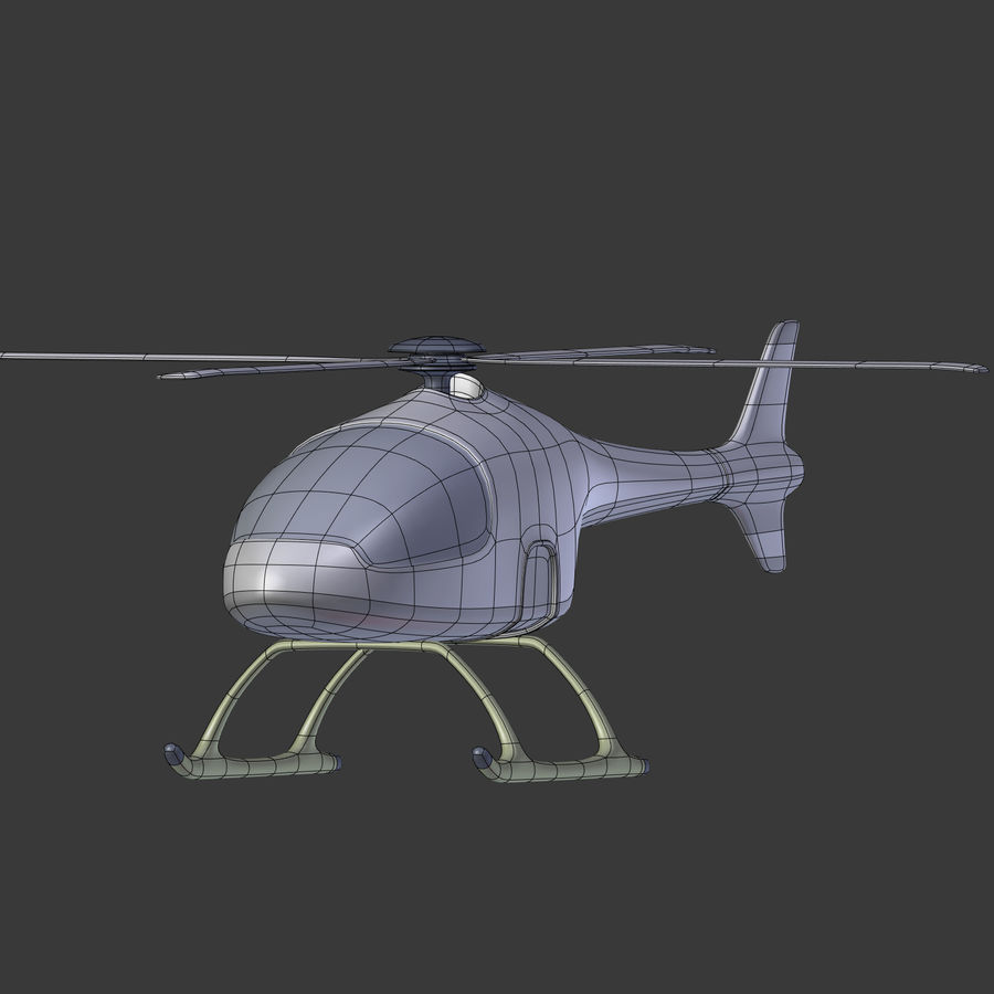 Aircraft_Fantasy_Helicopter royalty-free 3d model - Preview no. 7