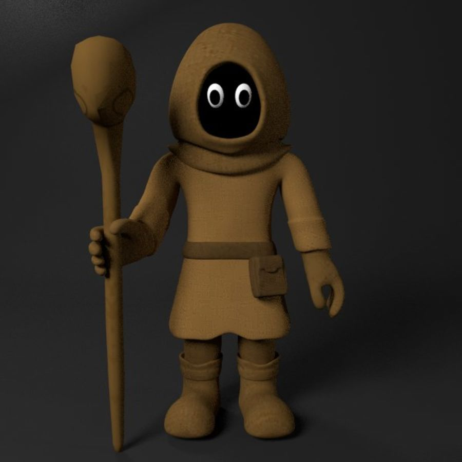 Cartoon Mage royalty-free 3d model - Preview no. 1