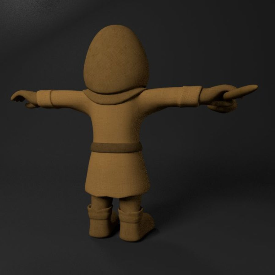 Cartoon Mage royalty-free 3d model - Preview no. 3