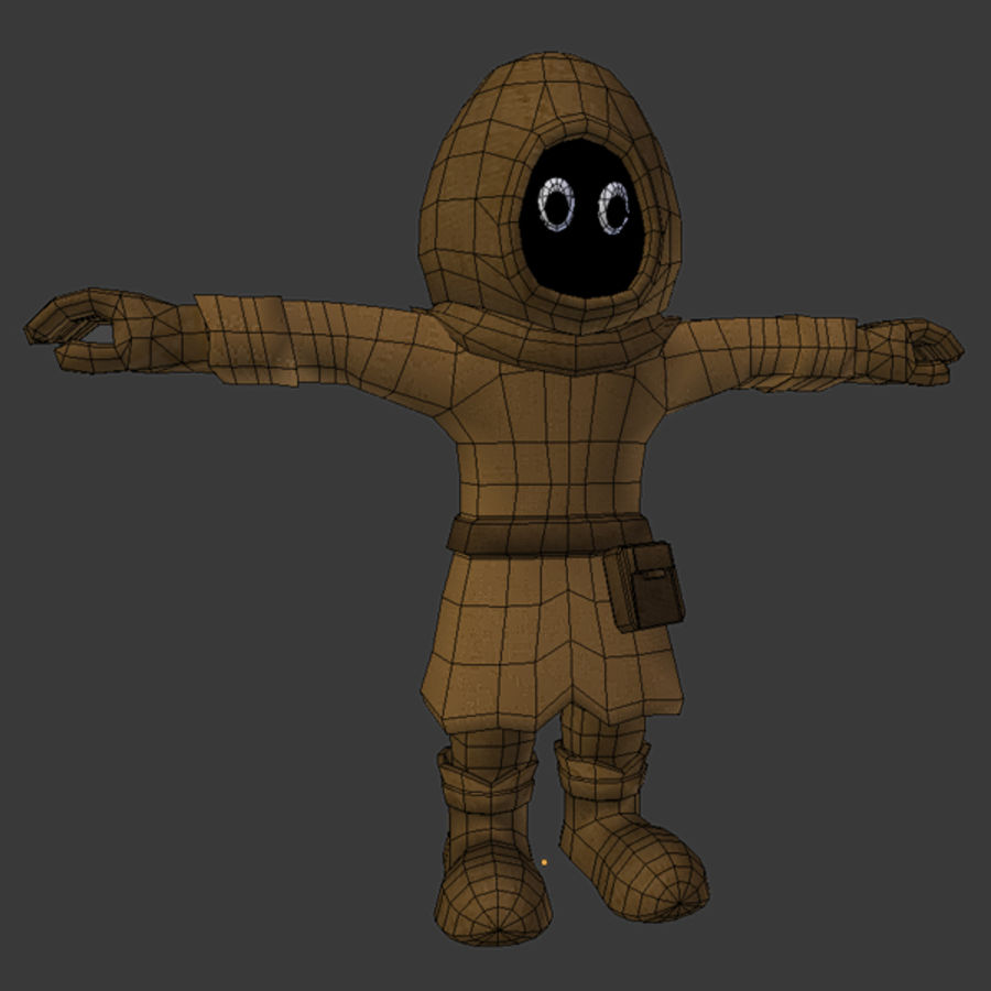 Cartoon Mage royalty-free 3d model - Preview no. 4