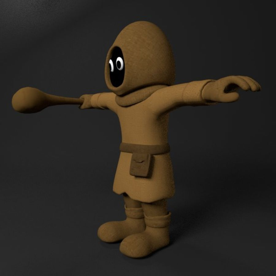 Cartoon Mage royalty-free 3d model - Preview no. 2
