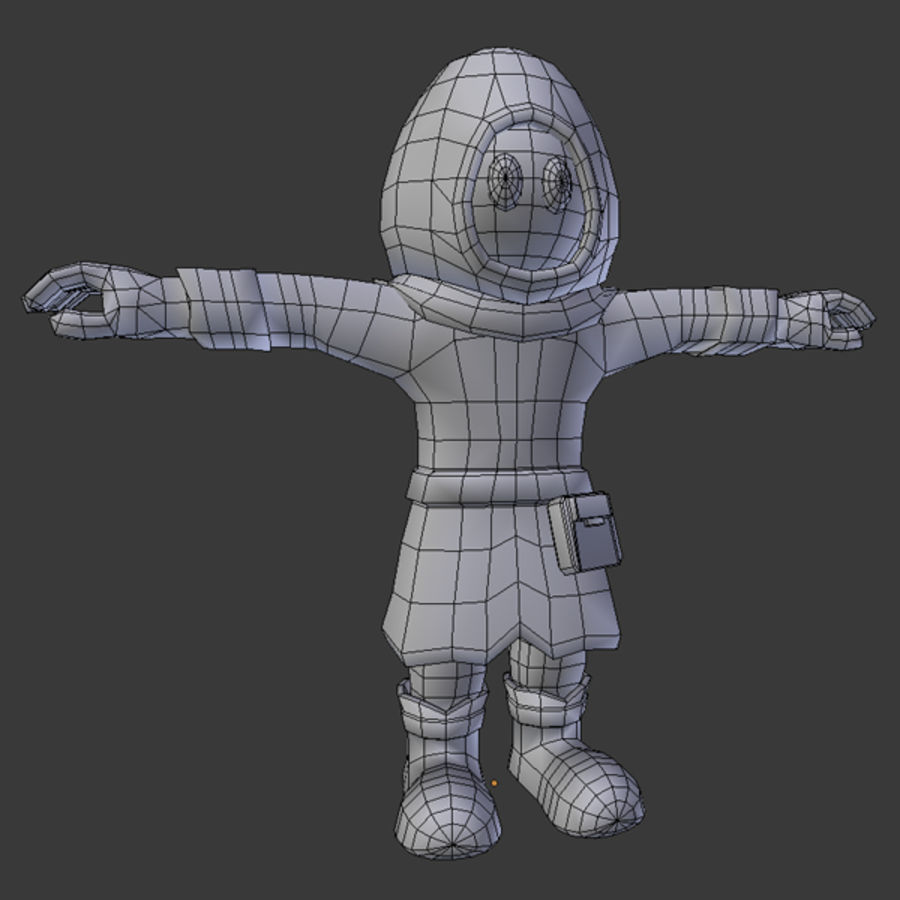 Cartoon Mage royalty-free 3d model - Preview no. 5