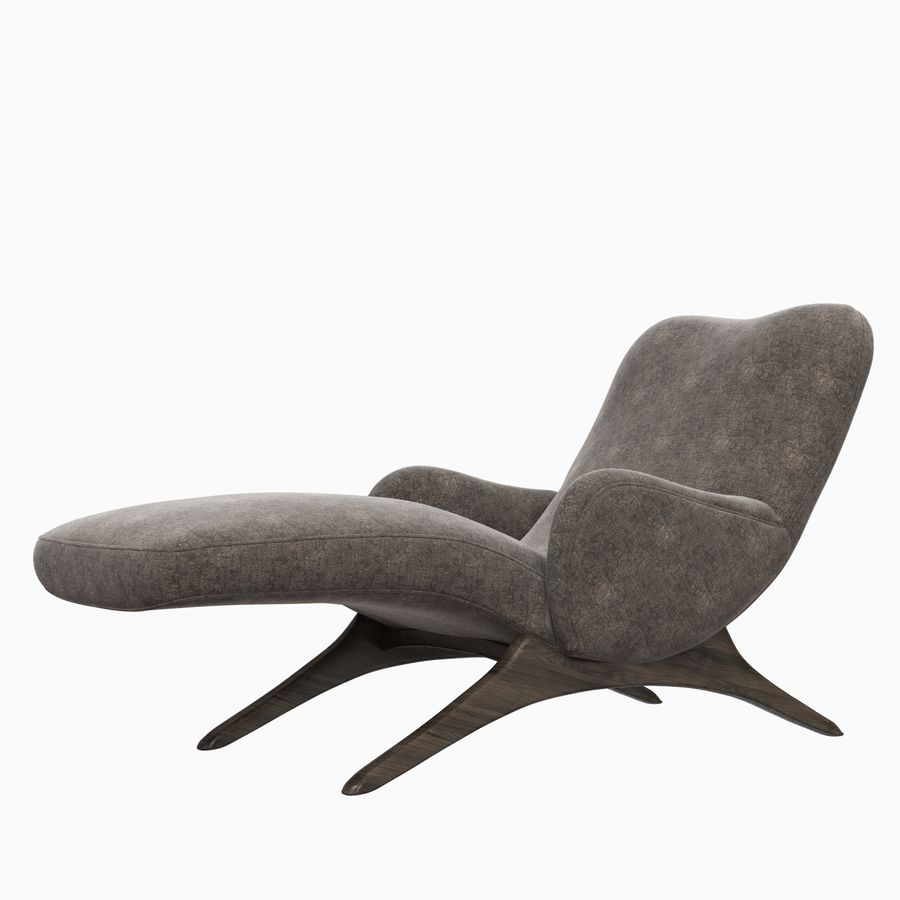 Vladimir Kagan Contour Chaise Lounge Holly Hunt royalty-free 3d model - Preview no. 6