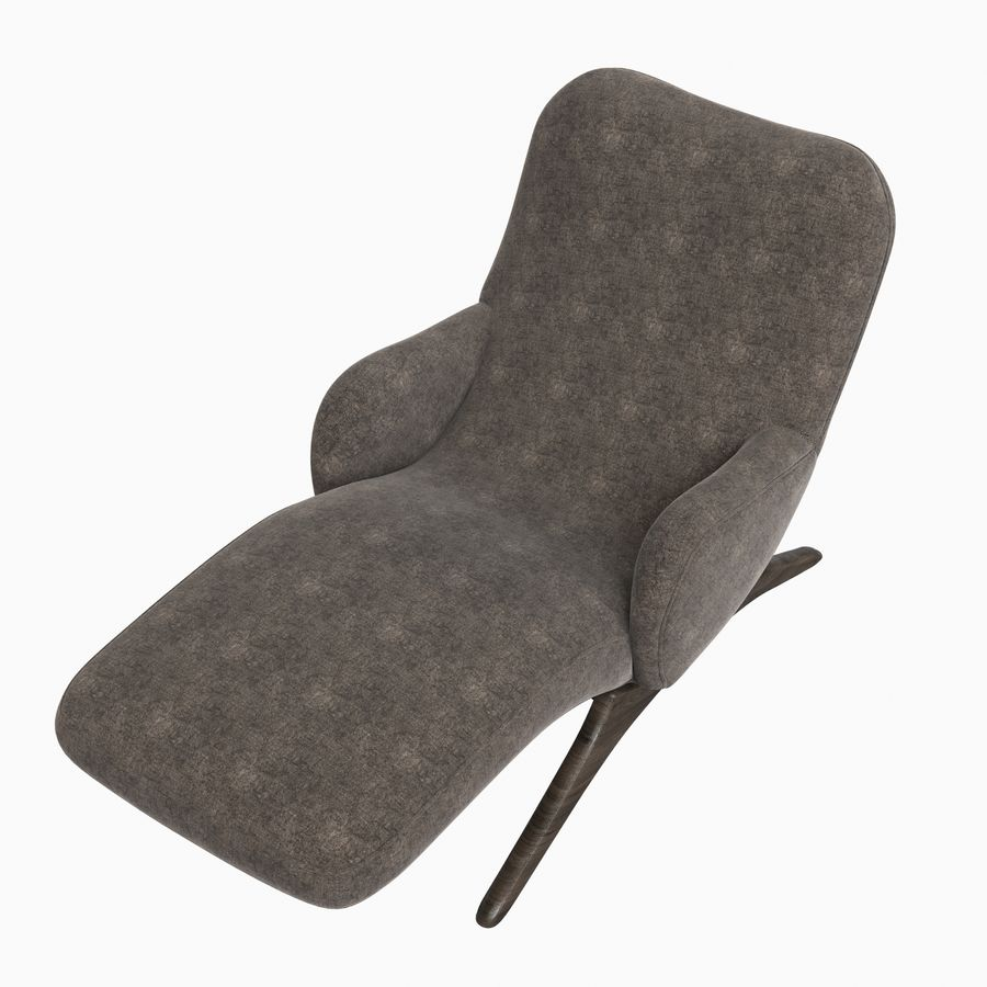 Vladimir Kagan Contour Chaise Lounge Holly Hunt royalty-free 3d model - Preview no. 7
