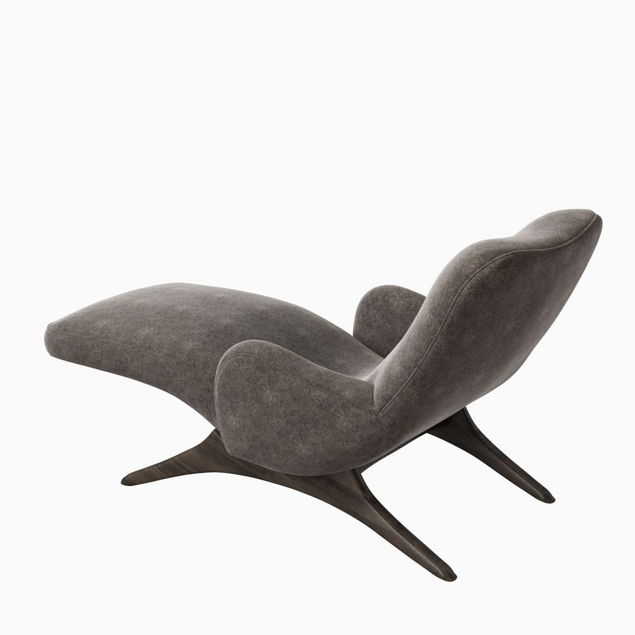 Vladimir Kagan Contour Chaise Lounge Holly Hunt royalty-free 3d model - Preview no. 5