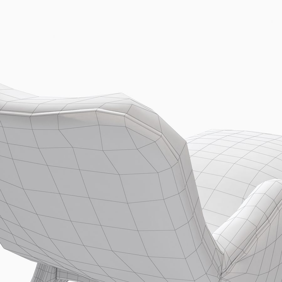 Vladimir Kagan Contour Chaise Lounge Holly Hunt royalty-free 3d model - Preview no. 16