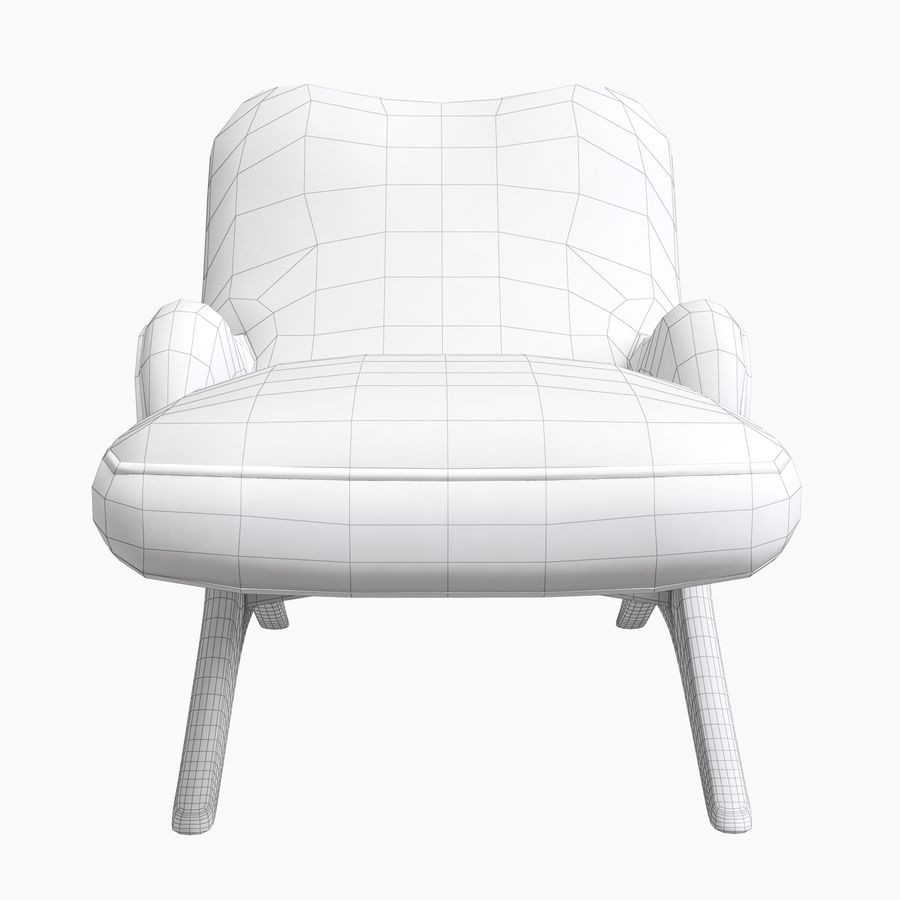 Vladimir Kagan Contour Chaise Lounge Holly Hunt royalty-free 3d model - Preview no. 13
