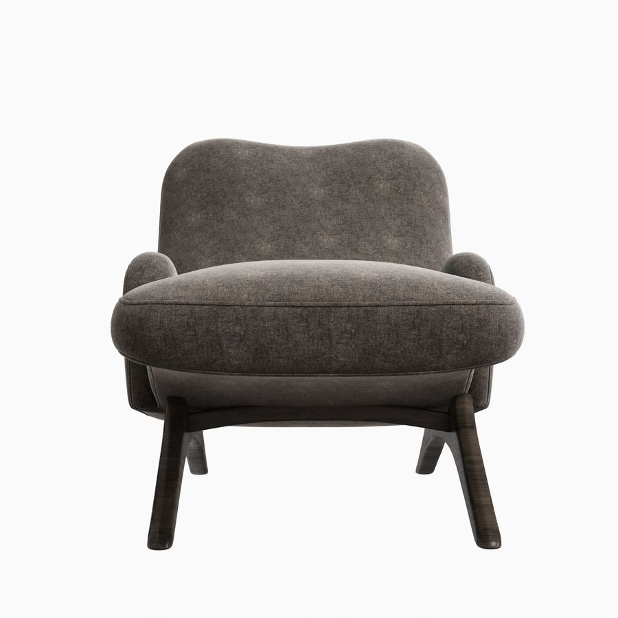 Vladimir Kagan Contour Chaise Lounge Holly Hunt royalty-free 3d model - Preview no. 9