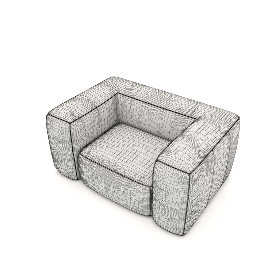 Sofa 6 royalty-free 3d model - Preview no. 5