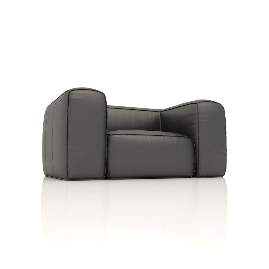 Sofa 6 royalty-free 3d model - Preview no. 3