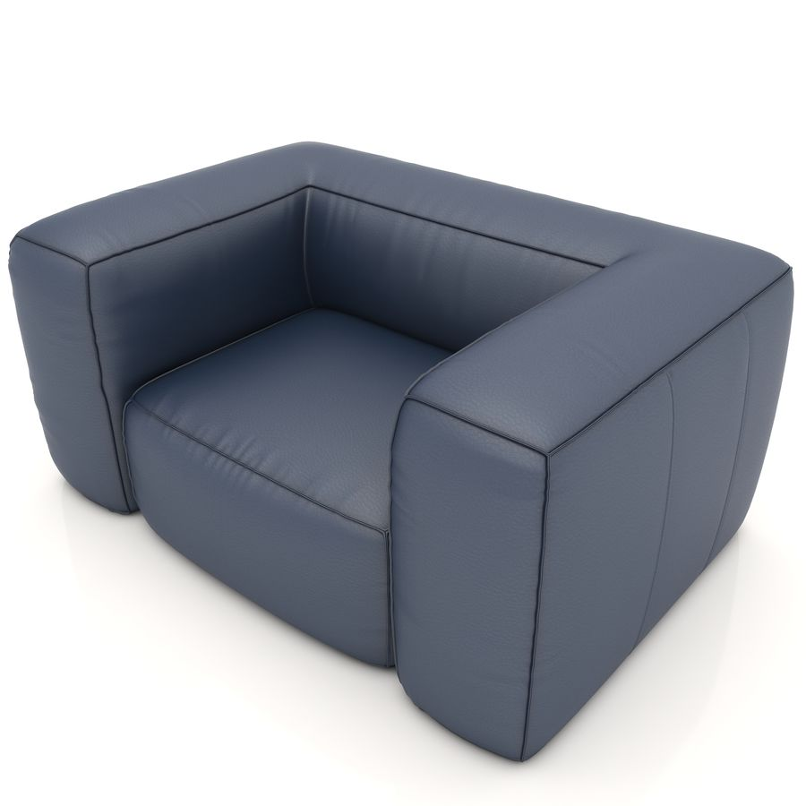 Sofa 6 royalty-free 3d model - Preview no. 4