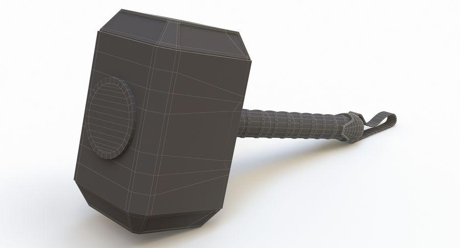 토르의 망치 (Mjolnir) 낮은 폴리 버전 royalty-free 3d model - Preview no. 9