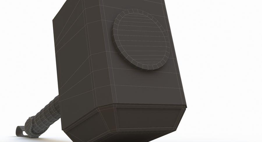 토르의 망치 (Mjolnir) 낮은 폴리 버전 royalty-free 3d model - Preview no. 14