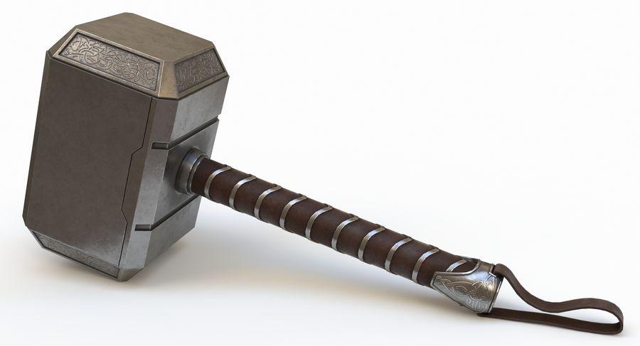 토르의 망치 (Mjolnir) 낮은 폴리 버전 royalty-free 3d model - Preview no. 2