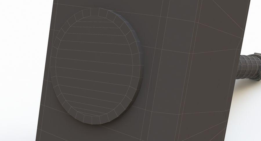토르의 망치 (Mjolnir) 낮은 폴리 버전 royalty-free 3d model - Preview no. 12