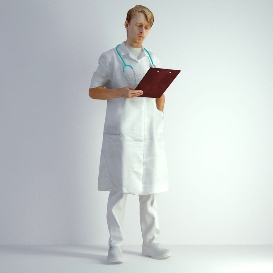 3D Scan Man Doctor 022 royalty-free 3d model - Preview no. 5