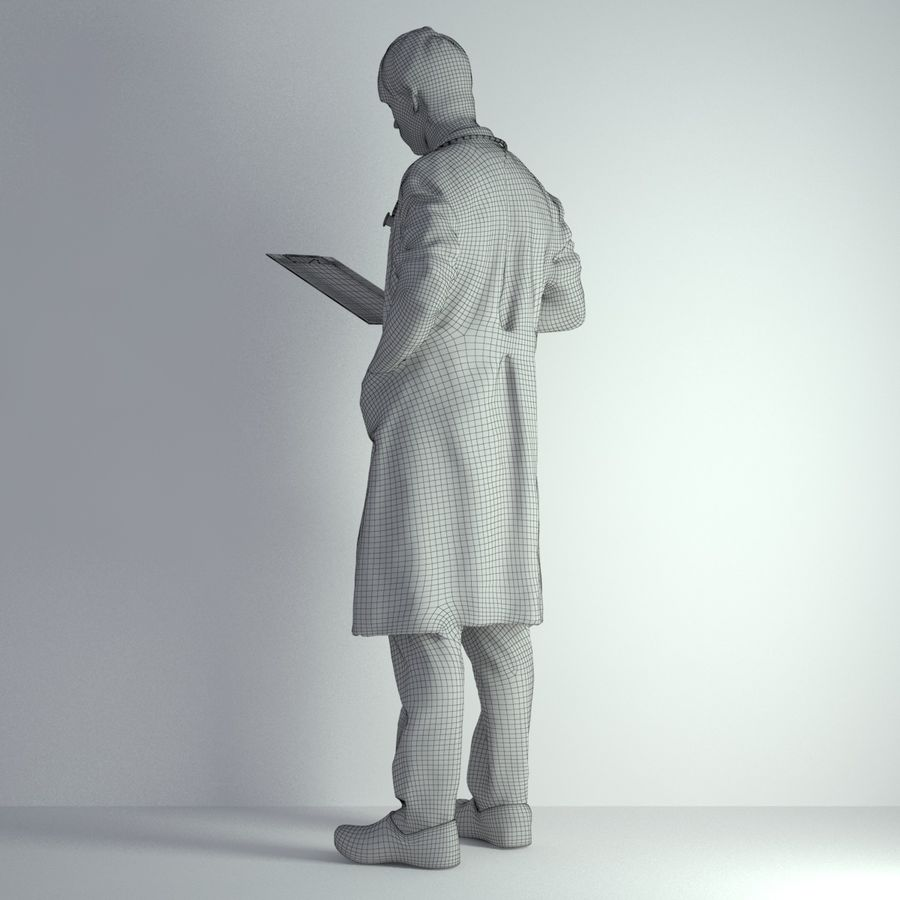 3D Scan Man Doctor 022 royalty-free 3d model - Preview no. 4