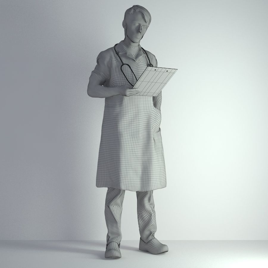 3D Scan Man Doctor 022 royalty-free 3d model - Preview no. 2