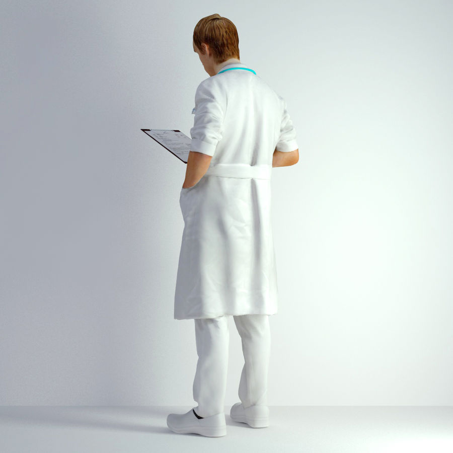 3D Scan Man Doctor 022 royalty-free 3d model - Preview no. 6