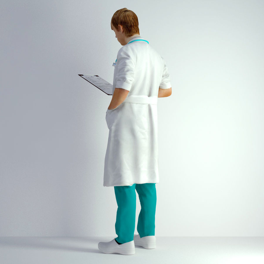 3D Scan Man Doctor 022 royalty-free 3d model - Preview no. 3