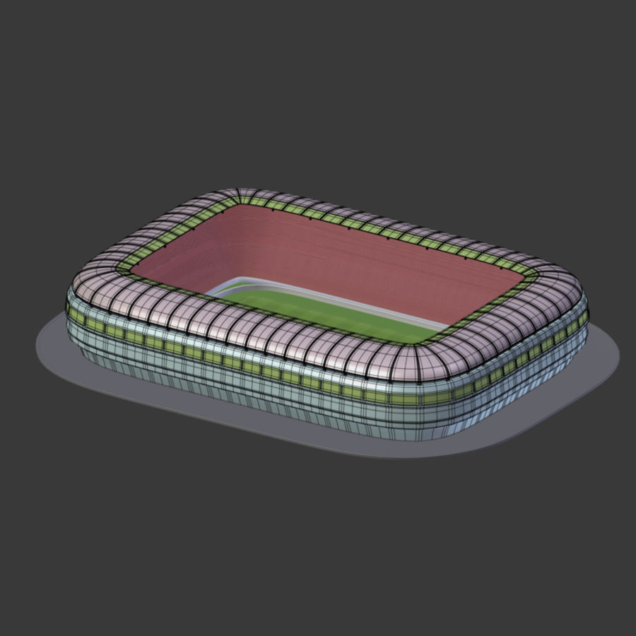 Stadion Low Poly Cartoon royalty-free 3d model - Preview no. 14