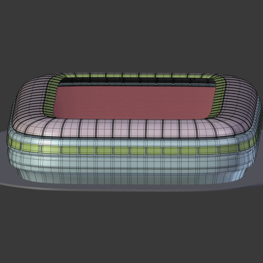 Stadion Low Poly Cartoon royalty-free 3d model - Preview no. 16