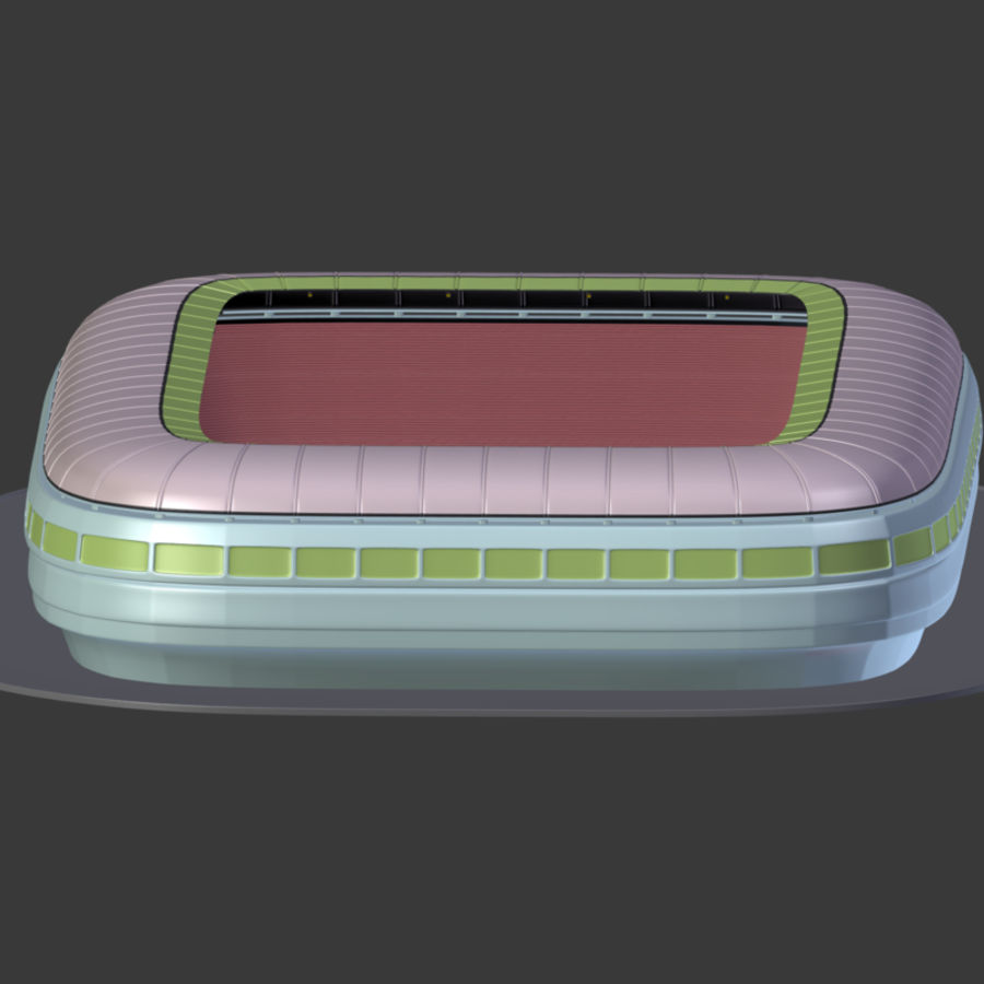Stadion Low Poly Cartoon royalty-free 3d model - Preview no. 15