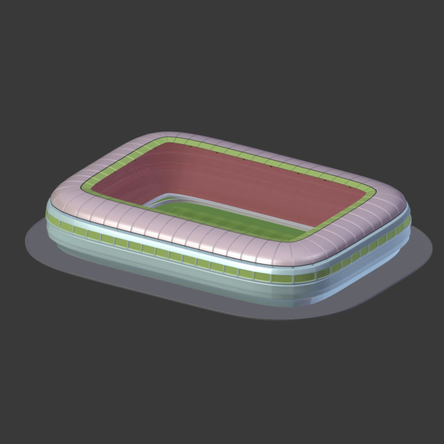 Stadion Low Poly Cartoon royalty-free 3d model - Preview no. 13