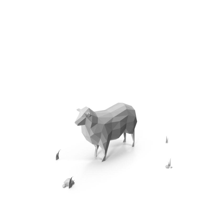 低聚农场动物/绵羊 royalty-free 3d model - Preview no. 2