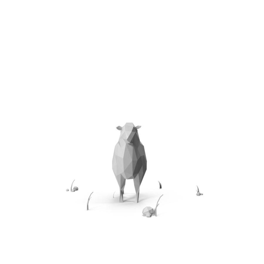 低聚农场动物/绵羊 royalty-free 3d model - Preview no. 4