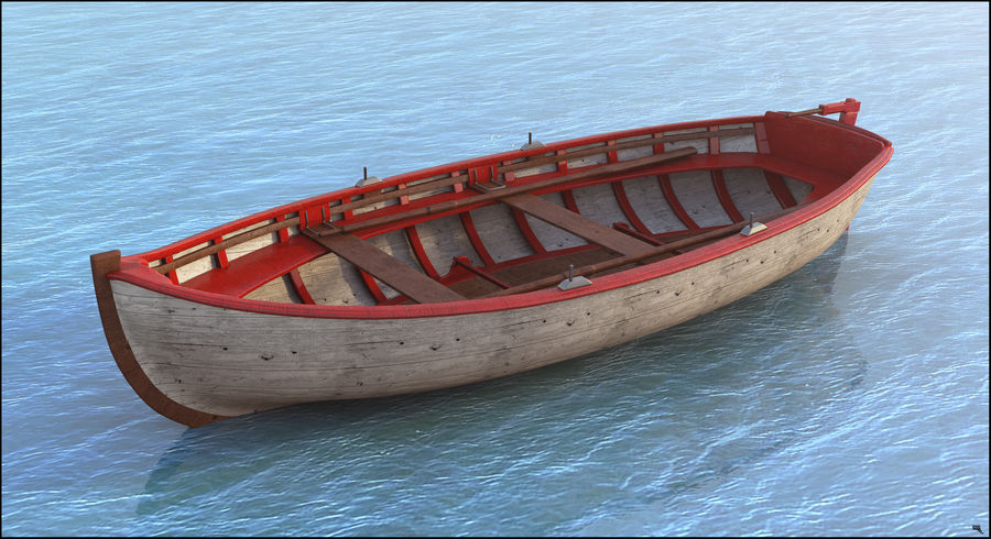 Fisherman Old Boat royalty-free 3d model - Preview no. 1