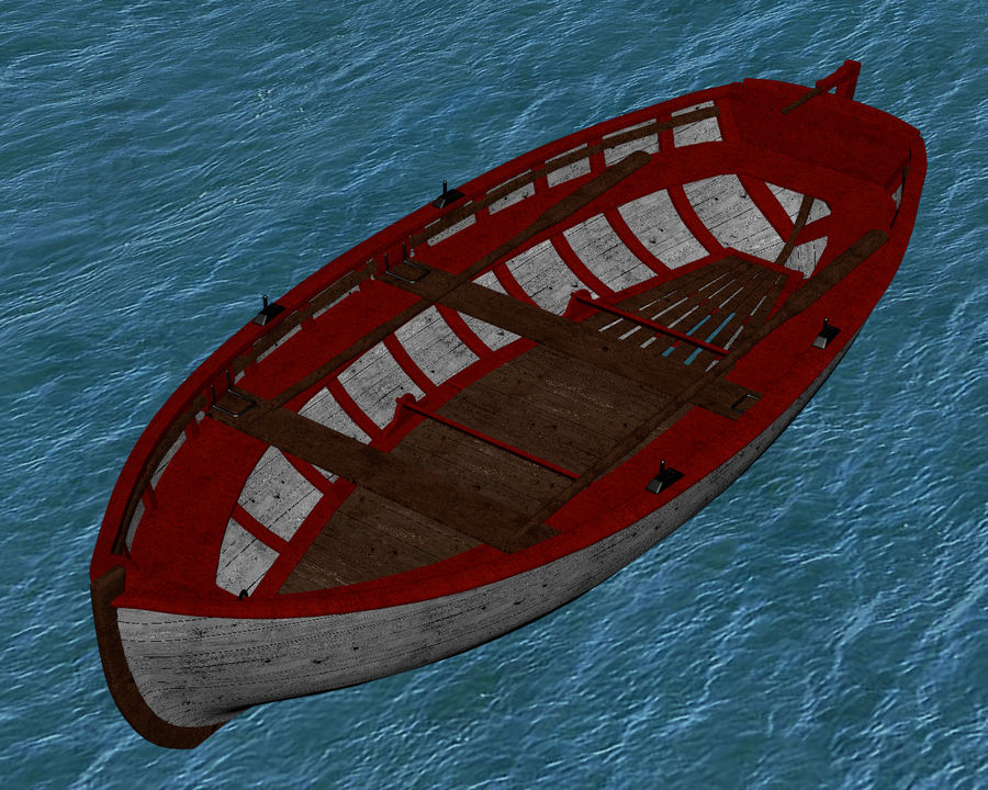 Fisherman Old Boat royalty-free 3d model - Preview no. 4