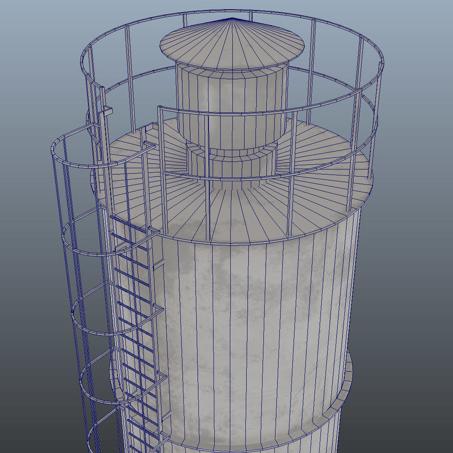 silos cementowy royalty-free 3d model - Preview no. 6