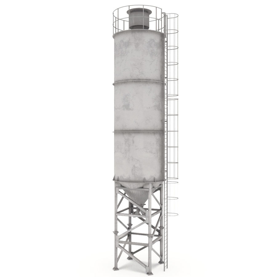 silos cementowy royalty-free 3d model - Preview no. 1