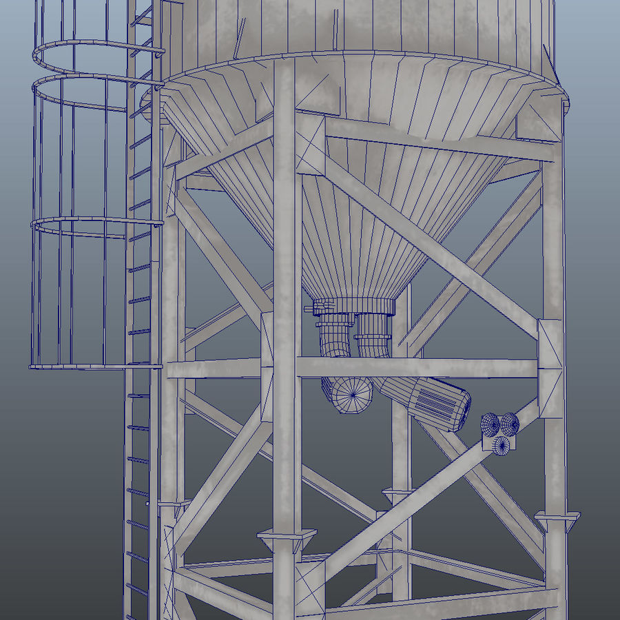 cement silo royalty-free 3d model - Preview no. 5