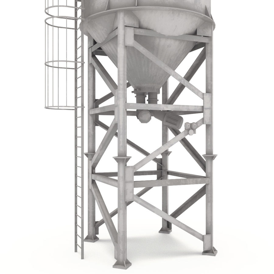 silos cementowy royalty-free 3d model - Preview no. 4