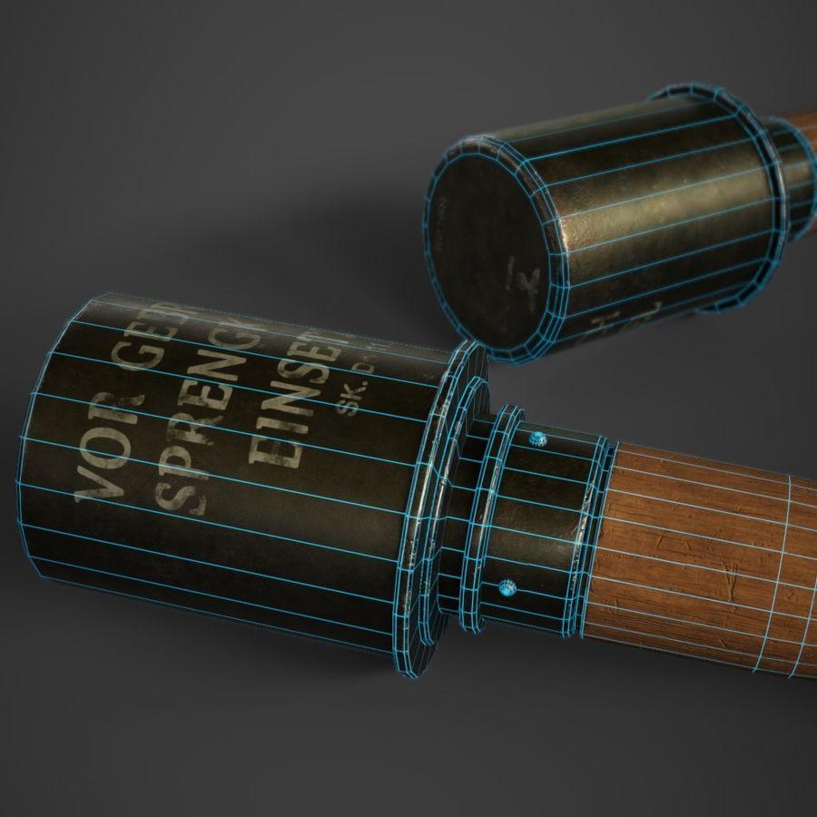M24 Stick Grenade Stielhandgranate 3D Model $10 -  png  obj