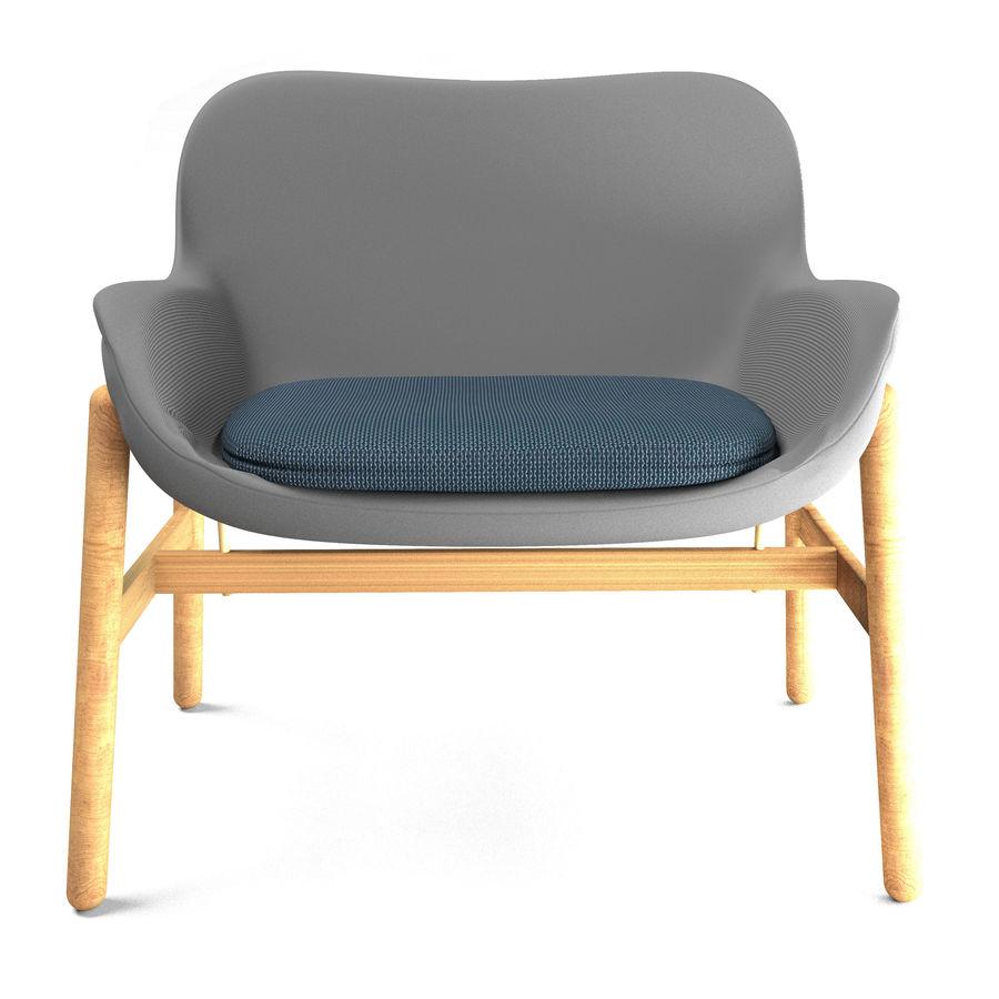 Silla Ikea-Arm royalty-free modelo 3d - Preview no. 4