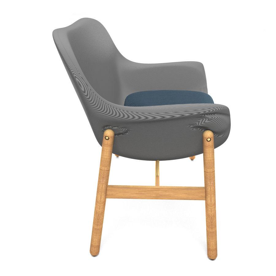 Silla Ikea-Arm royalty-free modelo 3d - Preview no. 3
