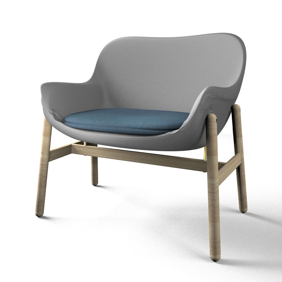 Silla Ikea-Arm royalty-free modelo 3d - Preview no. 2