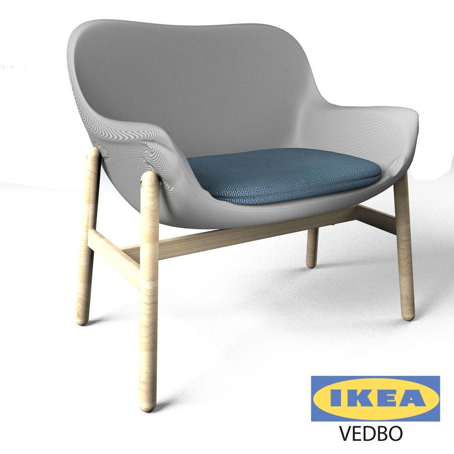 Silla Ikea-Arm royalty-free modelo 3d - Preview no. 1