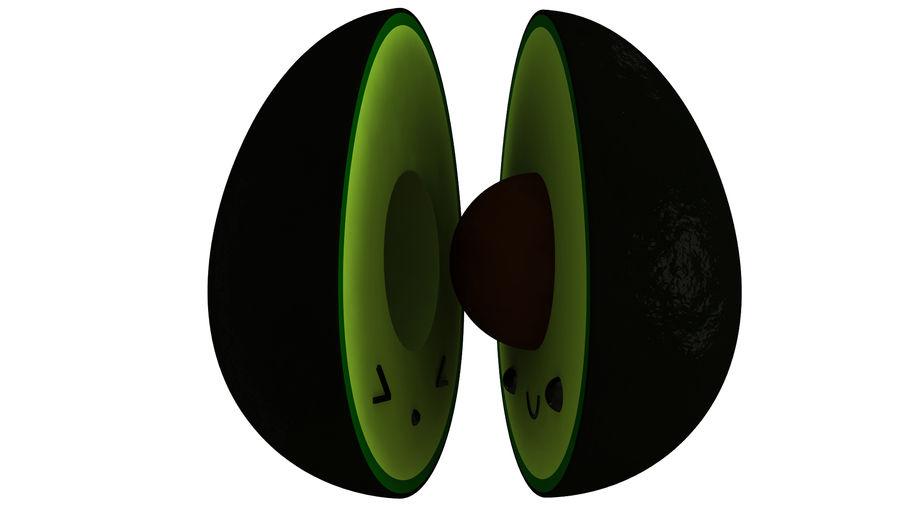 Avocado Toon Half royalty-free 3d model - Preview no. 4
