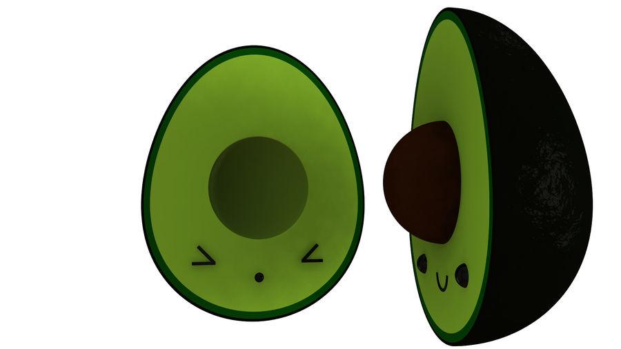 Avocado Toon Half royalty-free 3d model - Preview no. 2