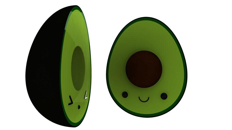 Avocado Toon Half royalty-free 3d model - Preview no. 3