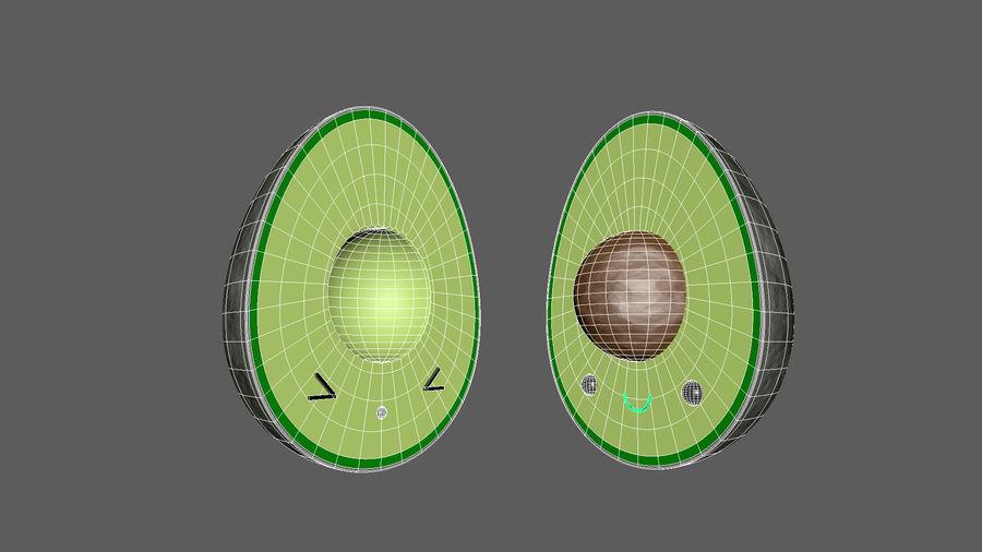 Avocado Toon Half royalty-free 3d model - Preview no. 7